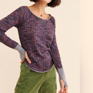 NEW FREE PEOPLE / SPACED OUT LONG SLEEVE TOP
